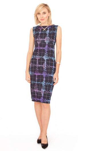 Gravity Waves Dress Plaid LIGO Front