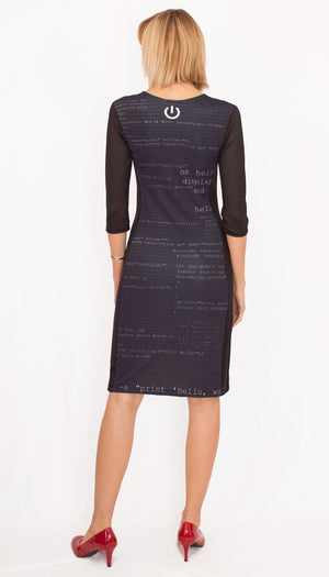 Software Engineer Computer Code Black Dress Back