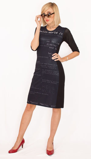 Programming Backer Software Code Black Dress Front