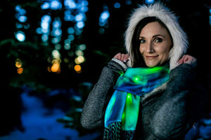 Green Northern Lights Clothing Scarf Night LED