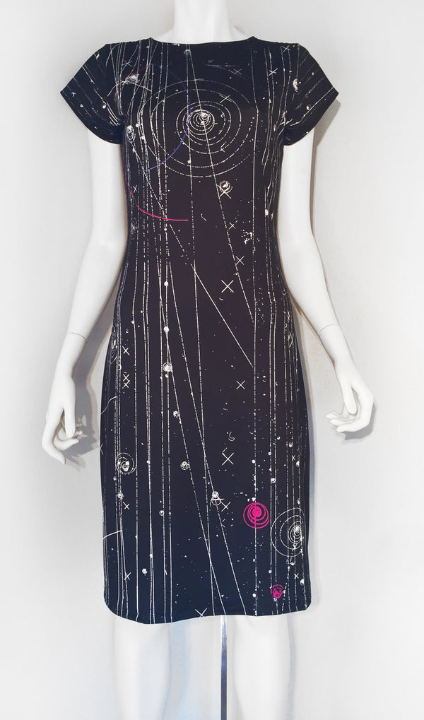 Particle Physics Bubble Chamber Scientist Black Dress
