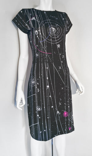 Particle Physics Bubble Chamber Science Dress Front