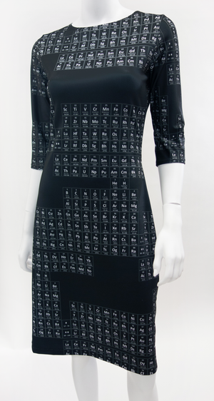 Periodic Table Dress Black+White