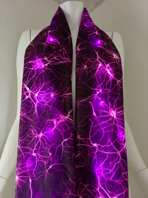 Pink Neuron Scarf LED