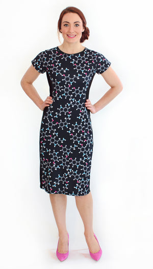 Serotonin Molecule Science Dress Front