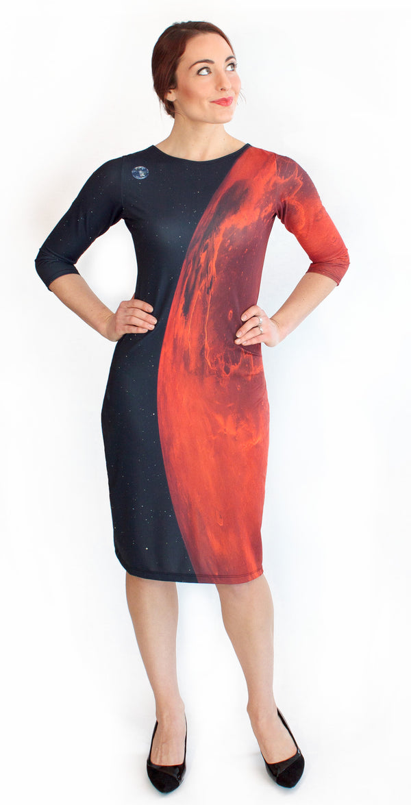 Mars Red Planet Dress Front