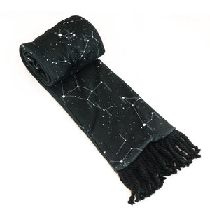 Black Constellation Scarf Astronomy