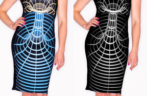 SpaceTime Wormhole Dress Fabric Color Options