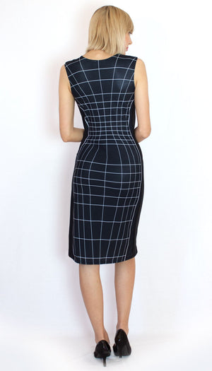 Wireframe Dress Black Back