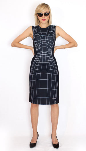 Wireframe Dress Black Front