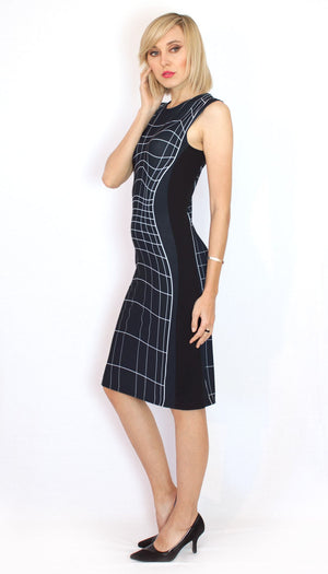Wireframe Dress Black Side
