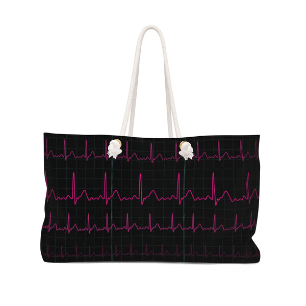 EKG Heartbeat Bag Front
