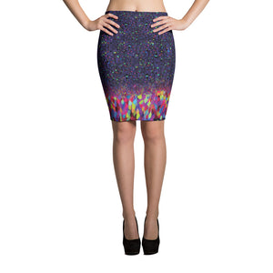 Brainbow Pencil Skirt