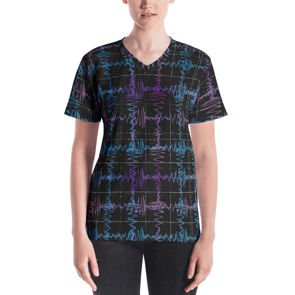 Gravitational Waves T-shirt Front Womens