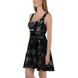 Hedy Lamarr Wifi STEM Dress Black Side