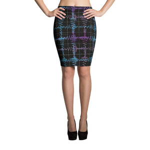 Gravitational Waves Science Pencil Plaid Skirt Front