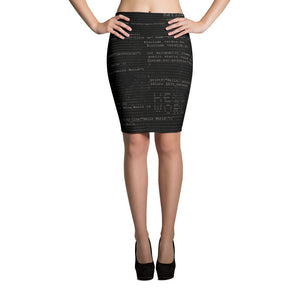 Hello World Code Pencil Skirt