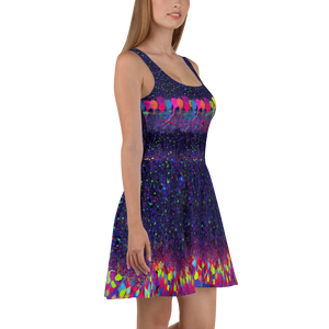 Purple Brainbow Science Skater Dress
