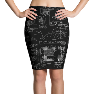 Hedy Lamarr Wifi Pencil Skirt