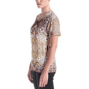 Circuitry Print Women's V-Neck T-Shirt