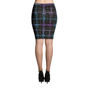 Gravitational Waves Plaid Science Skirt Back