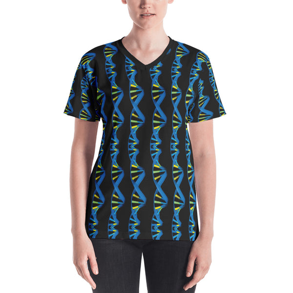 DNA Double Helix Blue Tshirt Front
