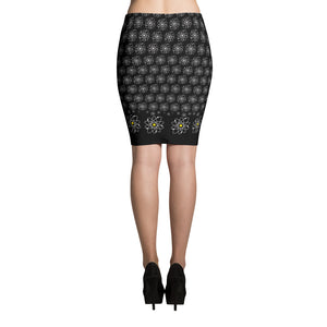 Atomic Daisy Pencil Skirt