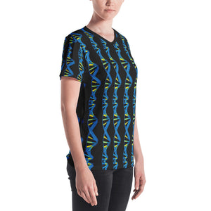 DNA Double Helix Women's V-Neck T-Shirt