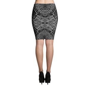 Circuitry Pencil Skirt