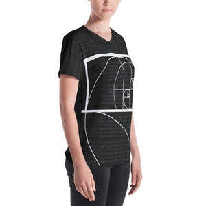 Fibonacci Women's V-Neck T-Shirt