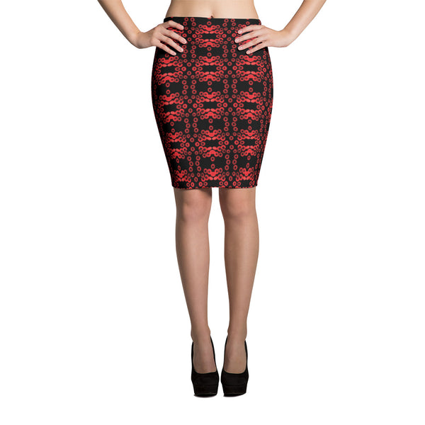 Red Blood Cell Pencil Skirt
