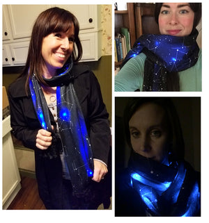 IllumiScarf LED Constellation Scarf