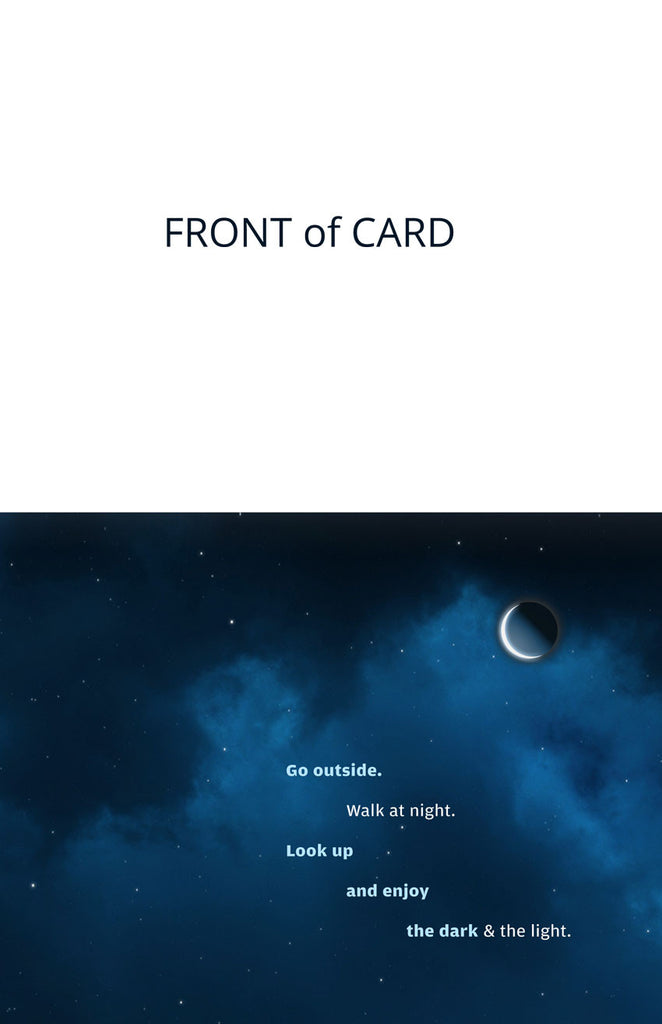 "Note Card Front ""Night Sky"""