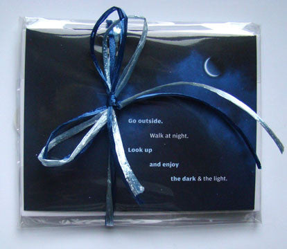 Night Sky notecard and envelopes 5 pack