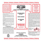 303 LUBE, Foaming Chain and Cable Lubricant