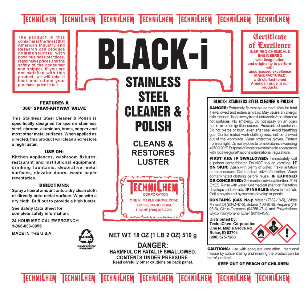 BLACK I, Stainless Steel Polish