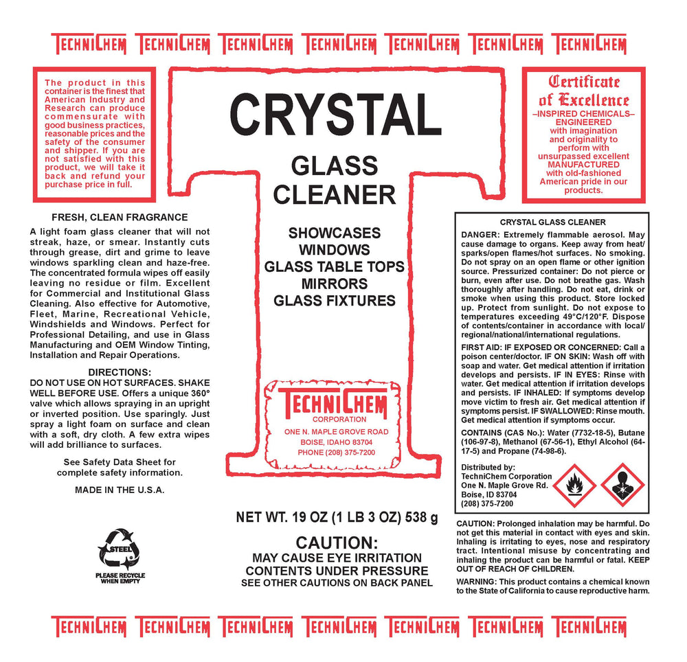 CRYSTAL, Glass Cleaner