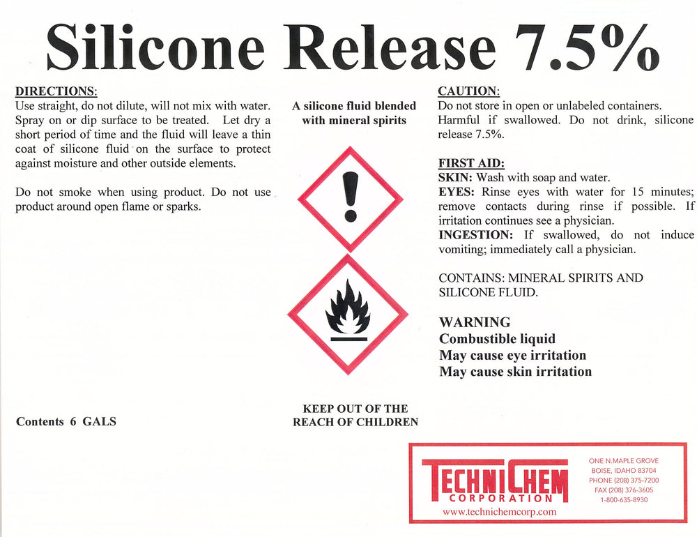 Silicone Release 7.5, Release Agent