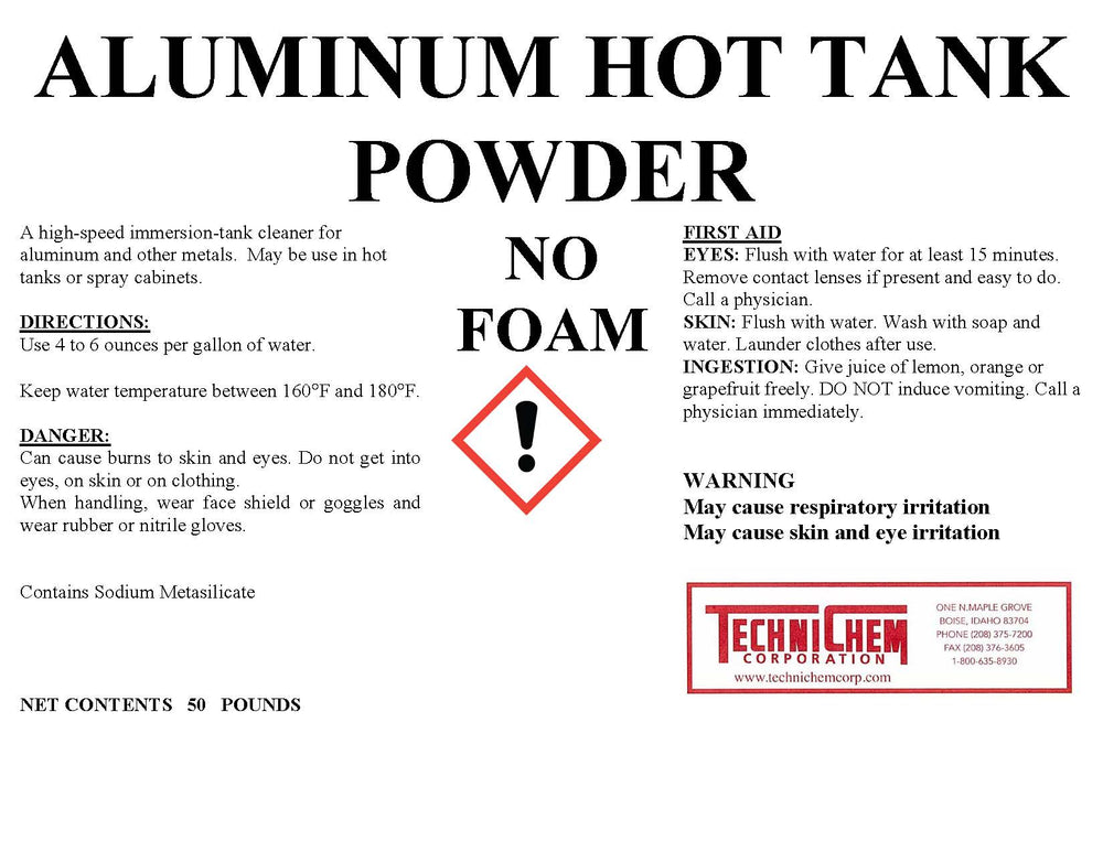 HOT TANK POWDER For Aluminum