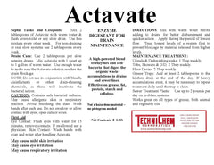 ACTAVATE, Bacterial Enzyme Drain Treatment