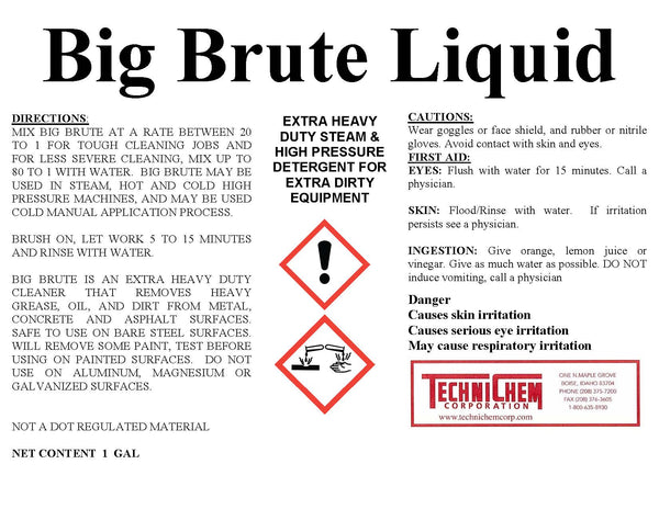 BIG BRUTE LIQUID, Extra Heavy-Duty Detergent