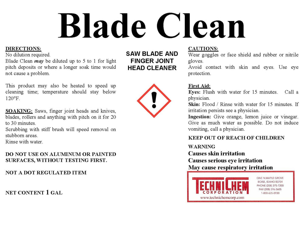 BLADE CLEAN, Saw Blade Cleaner