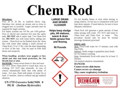 CHEM ROD, Sewer and Large Drain Cleaner