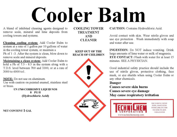 COOLER BALM, Cooling Tower Treatment