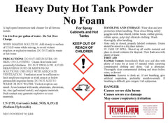 HD HOT TANK POWDER,   Hot Tank and Spray Cabinet Detergent