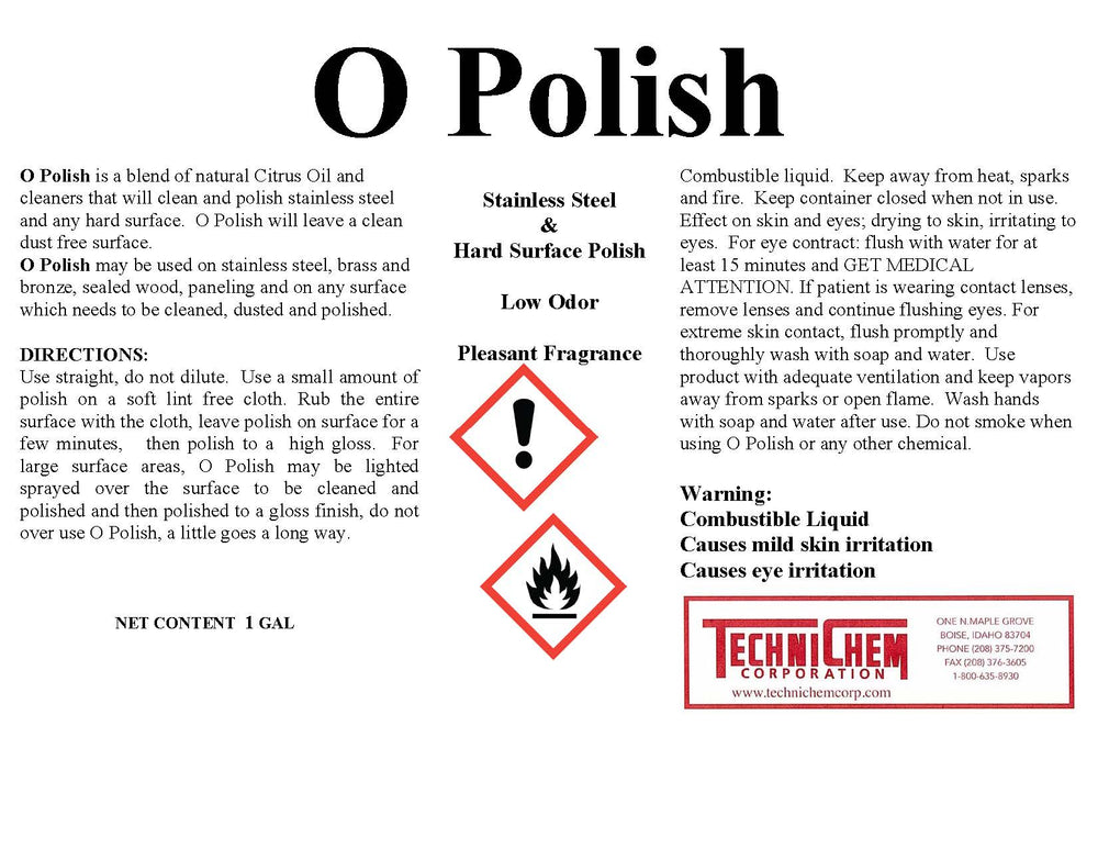 O POLISH, Stainless Steel Polish