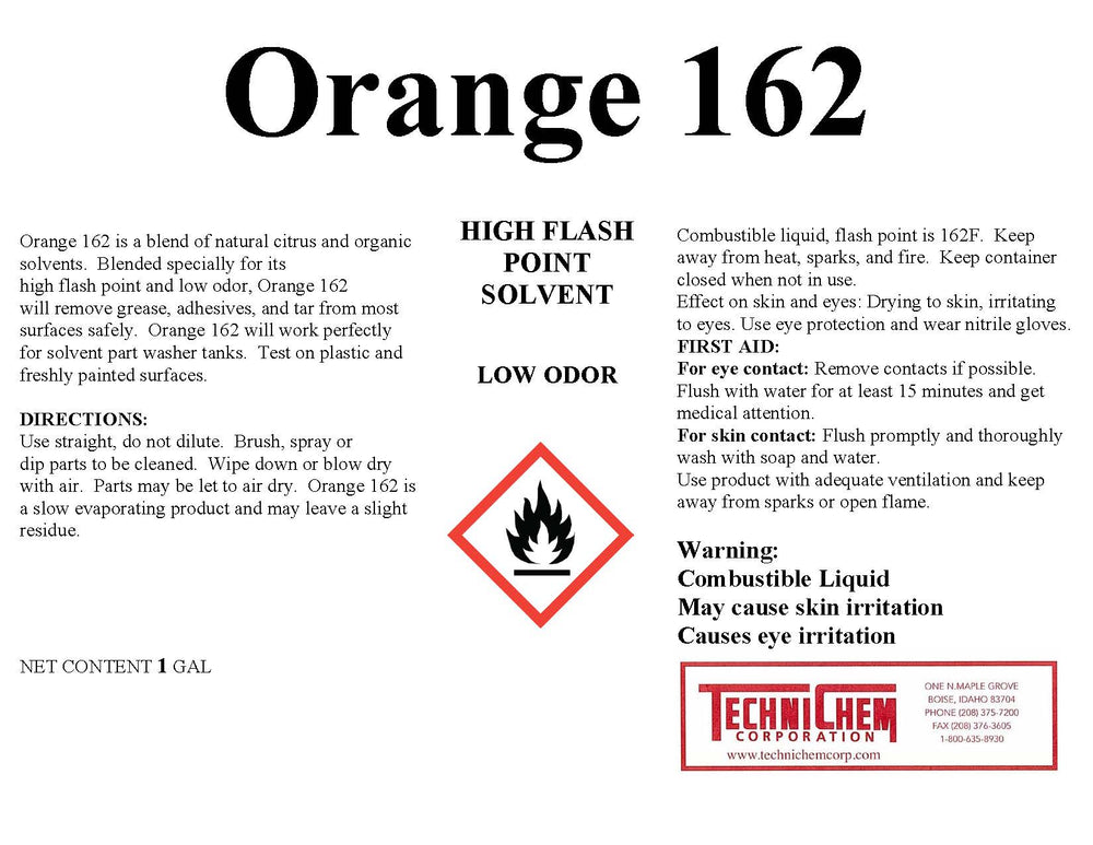 ORANGE 162, Citrus Solvent