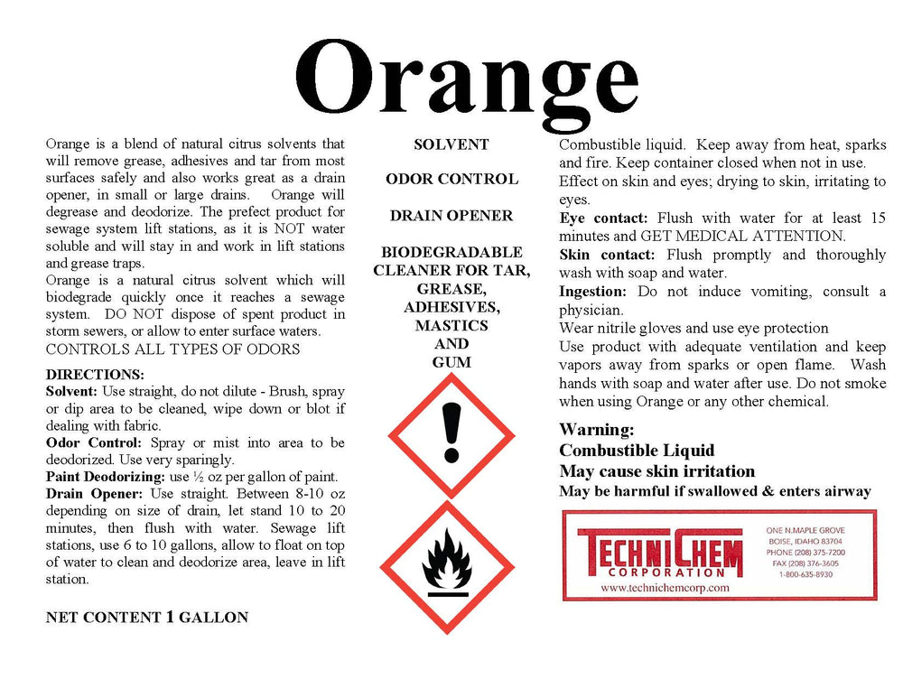ORANGE, Citrus Solvent
