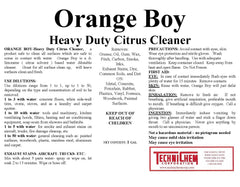ORANGE BOY, Water-Based Citrus Detergent