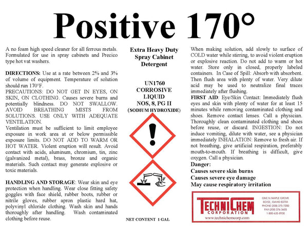 POSITIVE 170, Spray Cabinet Liquid Detergent
